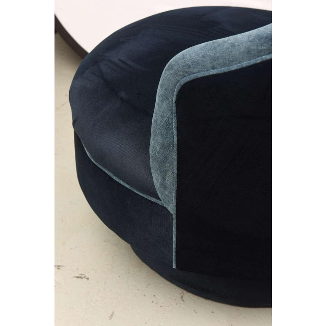 Two-Toned High-Back Adrian Pearsall Swivel Chair in Velvet, 1960s, Usa For Sale In Miami - Image 6 of 8