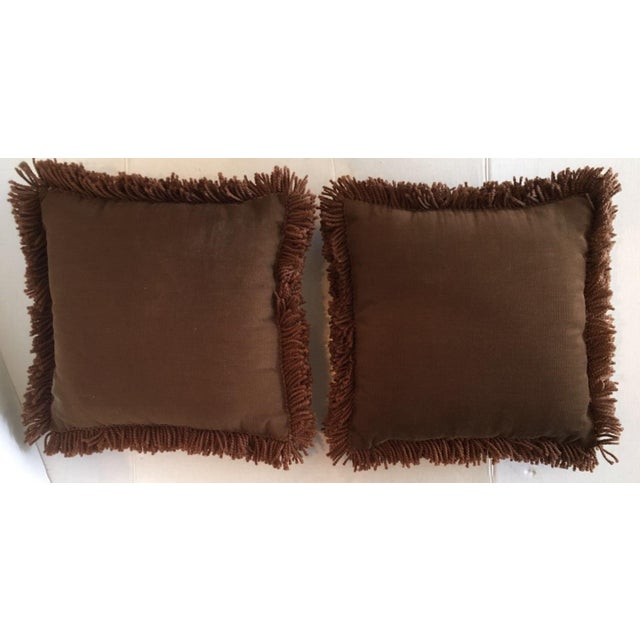 70's Vintage Latch Hook Throw Pillows - Image 5 of 5