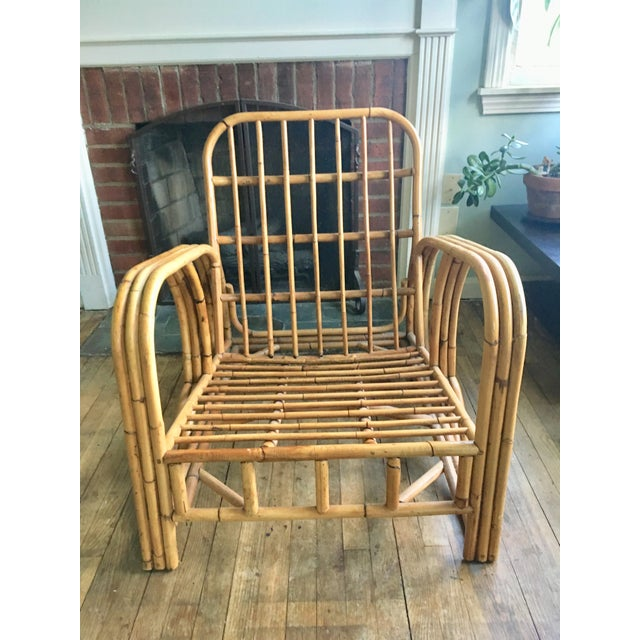 Mid-Century Modern Bamboo Club Chair - Image 2 of 10