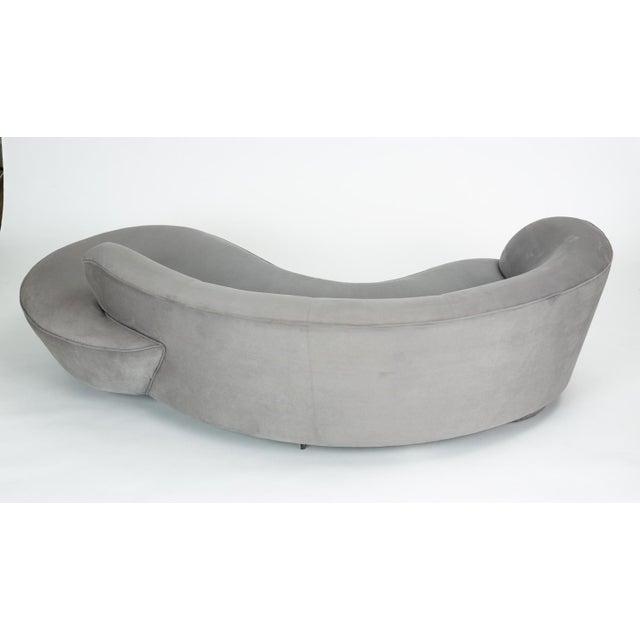 Vladimir Kagan Gray Cloud Sofa With Ottoman For Sale - Image 9 of 13
