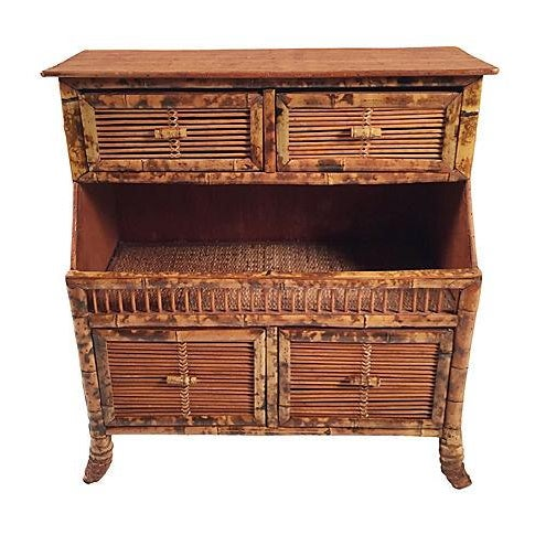 Rattan Storage Cabinet - Image 1 of 7
