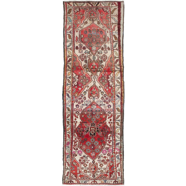 "Vintage Persian Rug - 3'1"" x 10'2"" - Image 1 of 2"