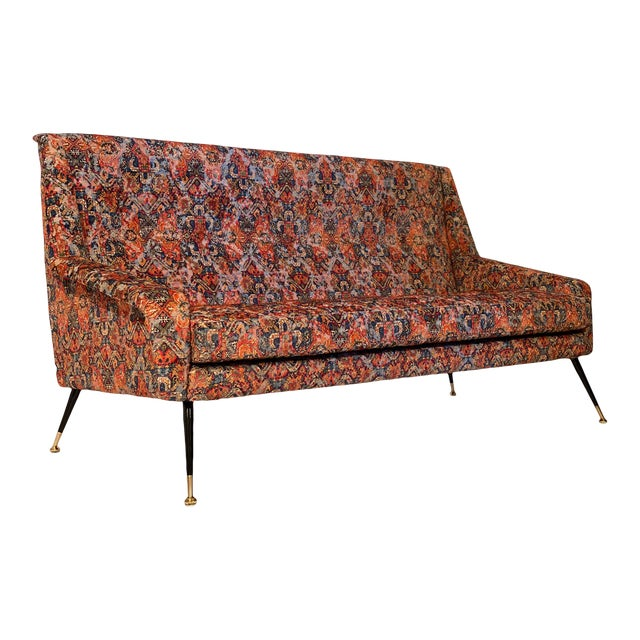 Vintage Italian Sofa With Rubelli Upholstery For Sale