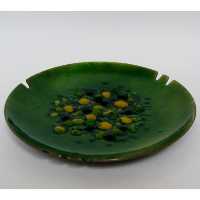 Copper Enamel Ashtray - Image 4 of 7