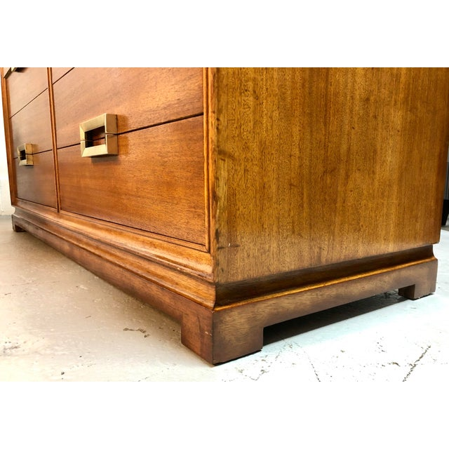 Mid Century Modern 8-Drawer Mahogany Dresser by Red Lion For Sale - Image 10 of 13