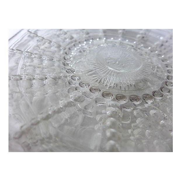 Vintage Pressed Glass Dessert Plates - Set of 7 - Image 3 of 5