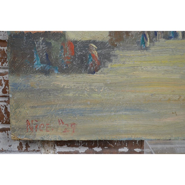 Unframed vintage 1929 plein air oil painting on canvas board by Laguna Beach, California artist Charles Bergfeldt...