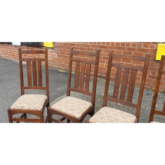 f15359b86e Set 6 1990s Gustav Stickley Harvey Ellis Designed Mission Oak Dining Room  Side Chairs For Sale