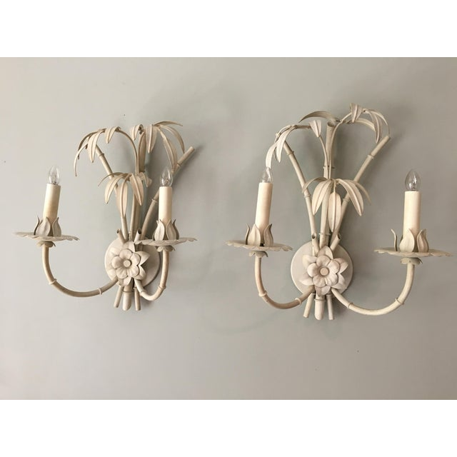20th Century Art Nouveau Palm Beach Style Wall Sconces - a Pair For Sale In New York - Image 6 of 12