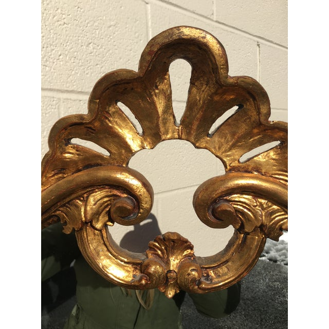 Italian Italian Carved Wood Gilt Mirror For Sale - Image 3 of 12