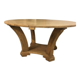 Italian Solid Oak Square / Round Table For Sale