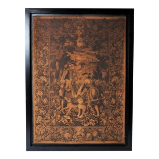 Hunting Tapestry in Frame For Sale