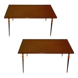 Vintage Jules Leleu Side Tables - A Pair For Sale