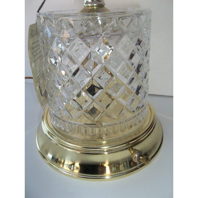 Alsy Lighting Vintage Crystal & Brass Table Lamp - Image 3 of 5