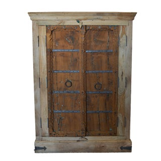 Antique Old Door Indian Cabinet For Sale