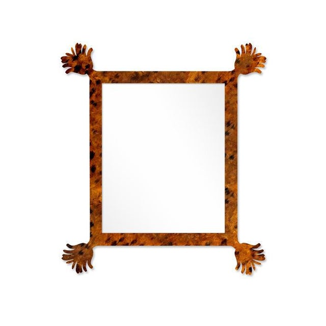 Contemporary Fleur Home x Chairish Vieux Mirror in Tortoise, 43x55 For Sale - Image 3 of 3