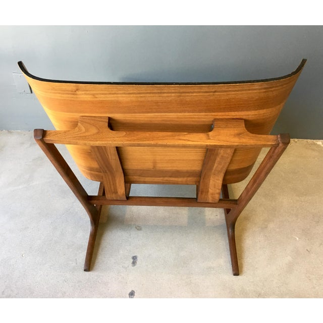 Grete Jalk Style Mid-Century Bent Walnut Side Chair - Image 4 of 10