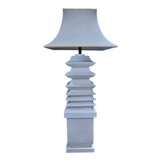 Italian Ceramic Floor Lamp by Tommaso Barbi For Sale