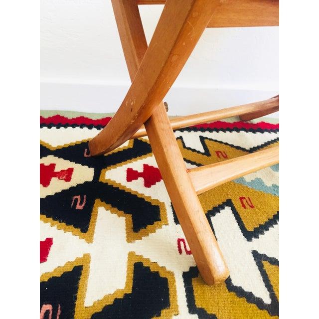 Hans Wegner Mid Century Hans Wegner Style Folding Rope Stool For Sale - Image 4 of 10