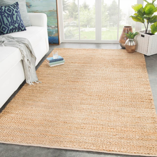 2010s Jaipur Living Poncy Natural Tan Area Rug - 8′ × 10′ For Sale - Image 5 of 6