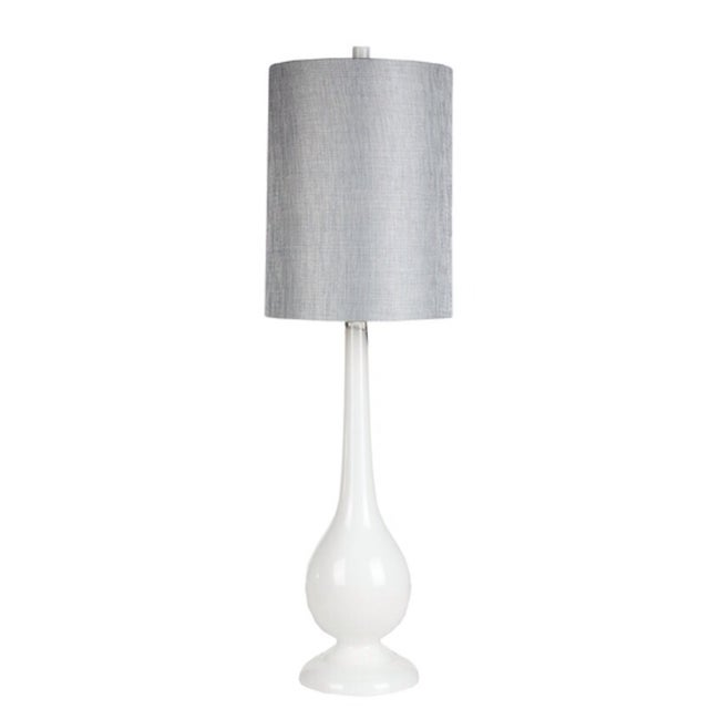 White Glass Mod Lamp - Image 1 of 2