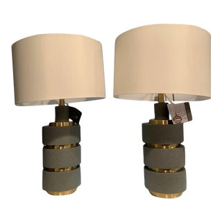 Currey and Company Georgine Table Lamps - a Pair For Sale