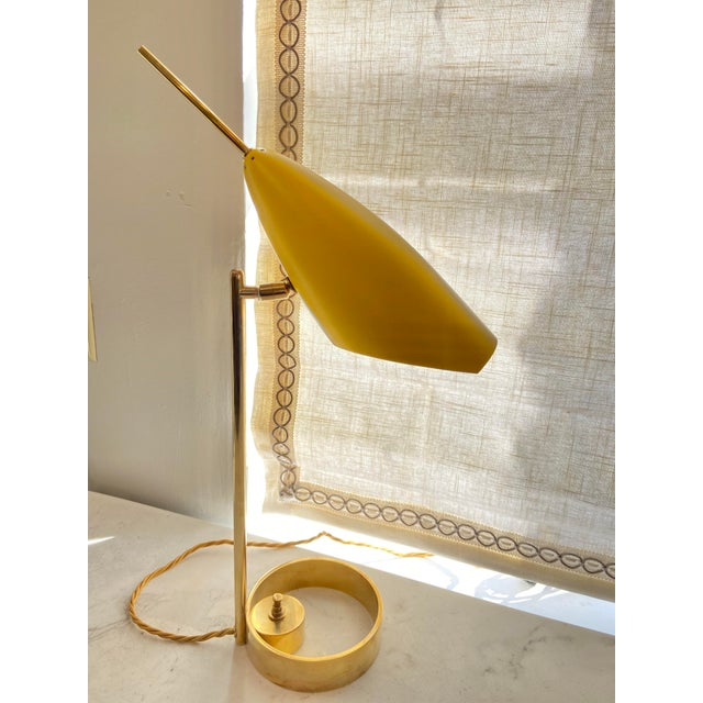 Italian 1970s Enameled Adjustable Table Lamp For Sale - Image 10 of 10