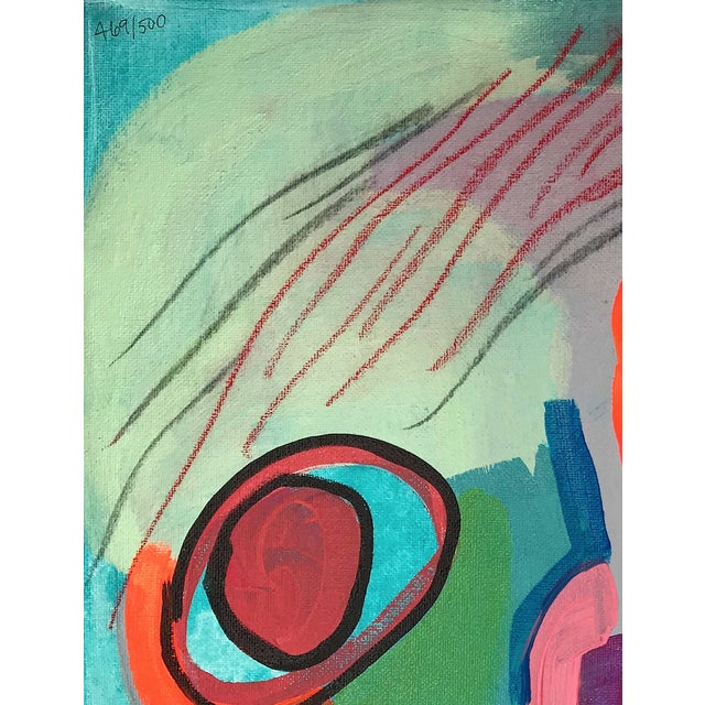 """Contemporary Abstract Portrait Painting """"Kooky Awesome, No. 2"""" For Sale - Image 4 of 7"""