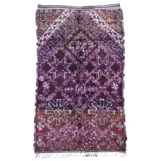 20th Century Moroccan Beni M'Guild Bohemian Tribal Berber Rug - 6′ × 9′6″ For Sale