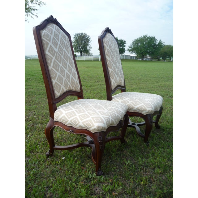 Wood Henredon Vintage Host/Hostess Dining Chairs- A Pair For Sale - Image 7 of 9