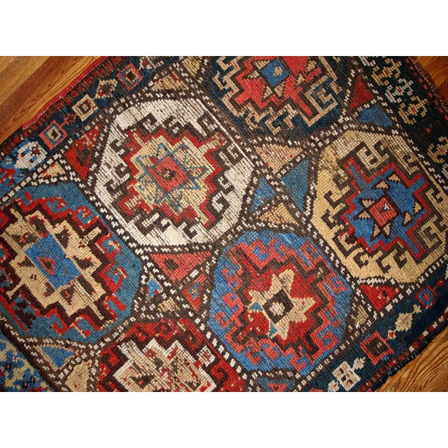 Hand Made Antique Collectible Persian Kurdish Rug - 3.5' X 4.6' - Image 4 of 6