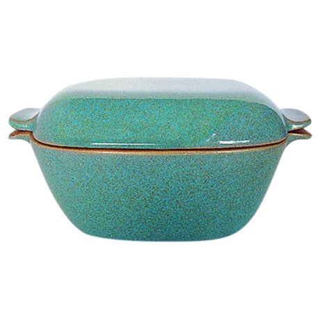 Glidden Antique Matrix Turquoise Casserole Dish For Sale