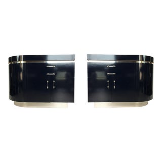 Pair of Large J. Wade Beam Nightstands For Sale