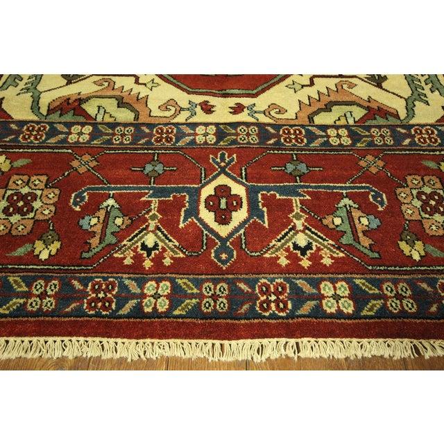 "Red Heriz Serapi Wool Rug - 10' x 14'1"" - Image 4 of 10"