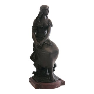 19th Century Antique Auguste Moreau French Bronze Statue For Sale