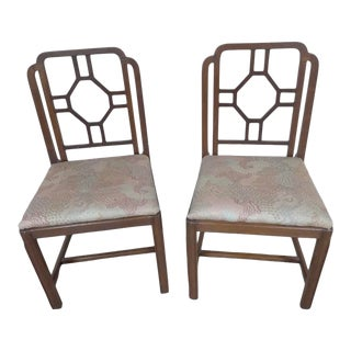 Bold Walnut Side Chairs by Shaw Furniture Company, 1950s For Sale