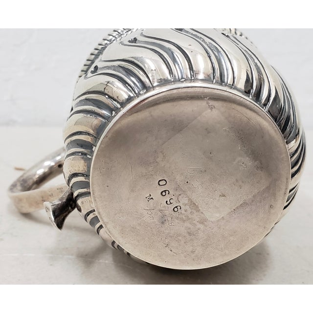 Late 19th Century Hand Tooled Sterling Silver Christening Cup C.1897 For Sale - Image 10 of 12