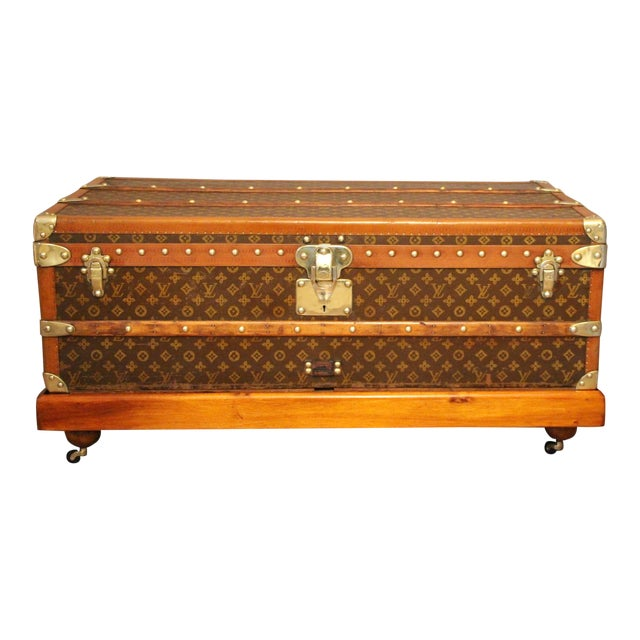 1920s Louis Vuitton Cabin Steamer Trunk For Sale