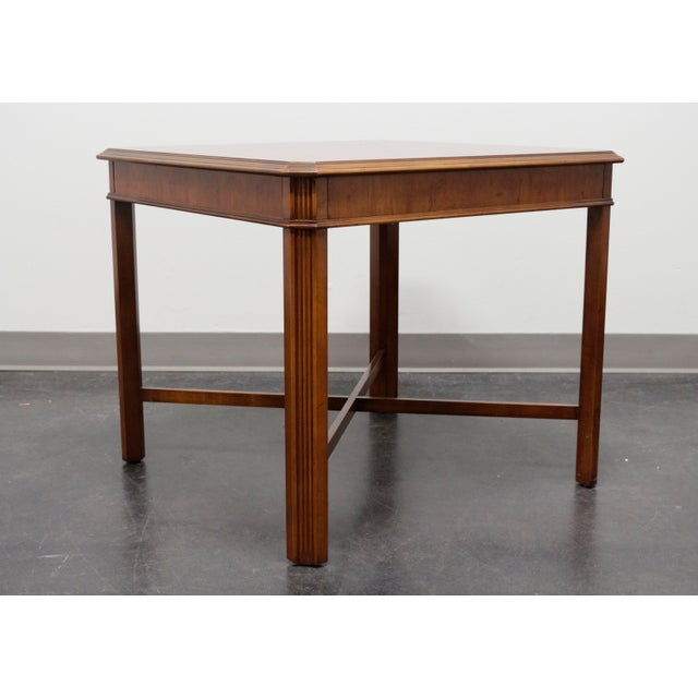 Late 20th Century Drexel Heritage Yorkshire Yew Wood Chippendale Accent Table For Sale - Image 5 of 9