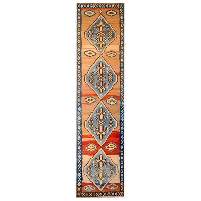 Bold Early 20th Century Azari Kilim Runner For Sale - Image 9 of 9