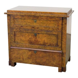 Burl Walnut Commode by Baker Furniture Co