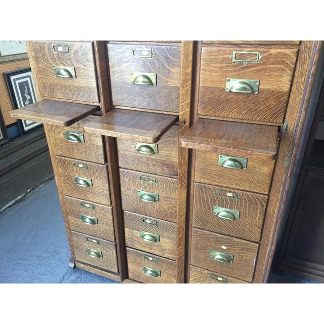 Antique Oak Letter File 21 Drawer For Sale - Image 10 of 12