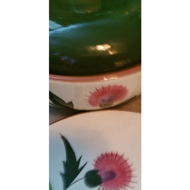 "Mid Century Stangl ""Thistle"" Covered Serving Bowl - Set of 3 For Sale In Miami - Image 6 of 8"