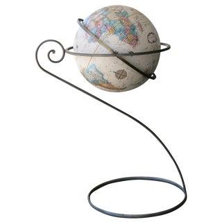 Replogle World Globe on Scrolling Steel Stand For Sale