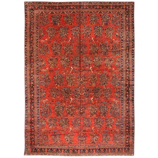 Extremely Fine Antique Oversize Persian Lilihan Carpet For Sale