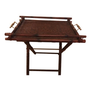 1990s Safari Ralph Lauren Butlers Folding Table For Sale