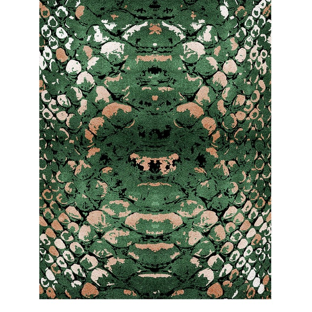 Modern Reptilus Botanical Rug From Covet Paris For Sale - Image 3 of 3