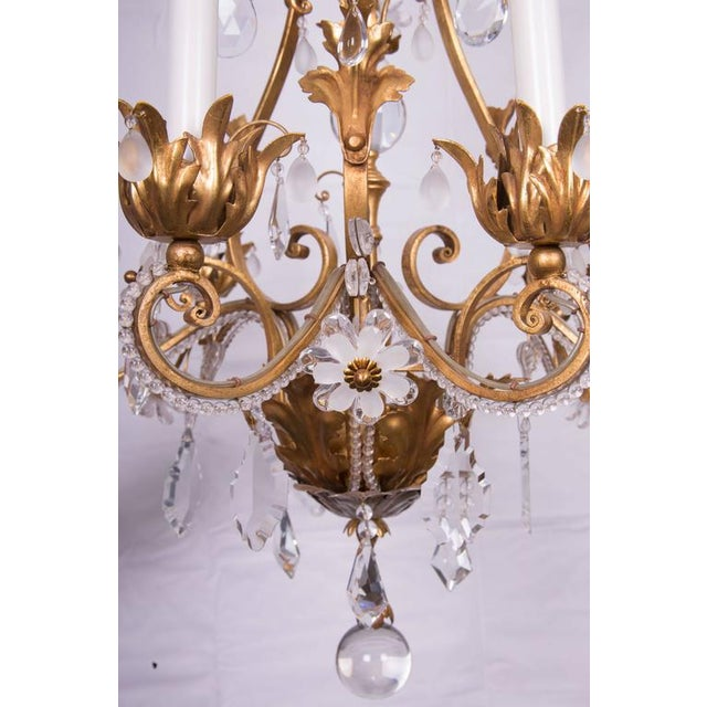 Louis XVI French Baguès Chandelier For Sale - Image 3 of 4