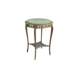 20th Century French Marble Top Side Table For Sale