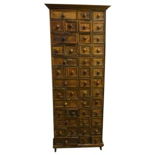 Antique Indonesian Apothecary Cabinet with 45 drawers from the 19th Century